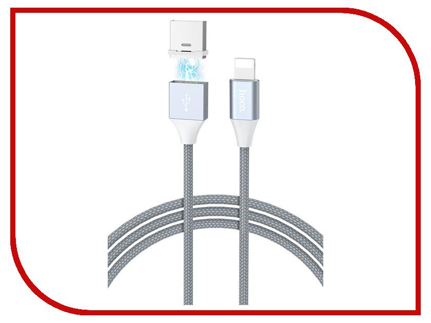 Аксессуар Hoco U40Bi USB - Lightning Magnetic Adsorption Grey аксессуар hoco u16i usb lightning magnetic adsorption silver