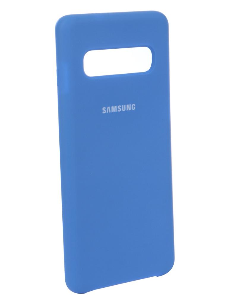 все цены на Аксессуар Чехол Innovation для Samsung Galaxy S10 2019 Silicone Blue 14354 онлайн