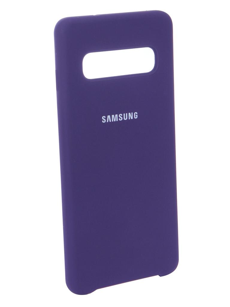 Аксессуар Чехол Innovation для Samsung Galaxy S10 2019 Silicone Violet 14355