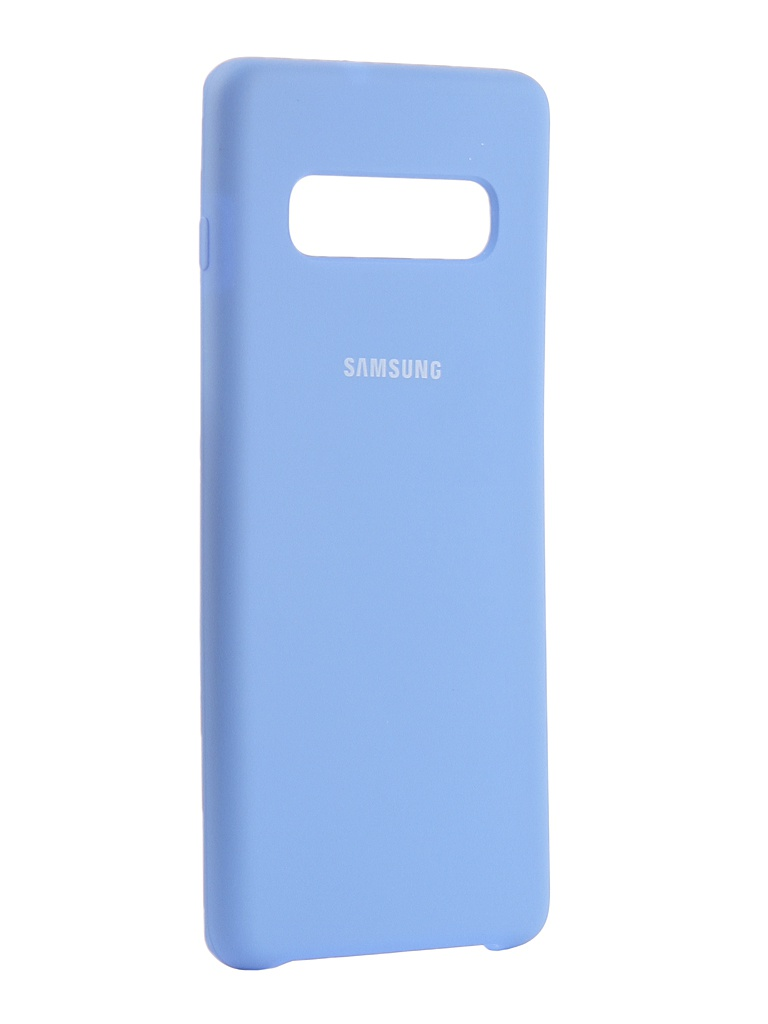 Аксессуар Чехол Innovation для Samsung Galaxy S10 Plus 2019 Silicone Blue 14362