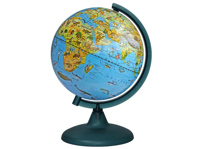 Глобус Глобусный Мир Зоогеографический 210mm 10219