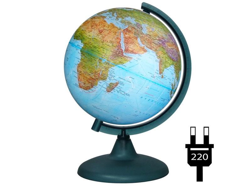 Глобус Глобусный Мир Физико-политический Двойная карта 210mm 10093