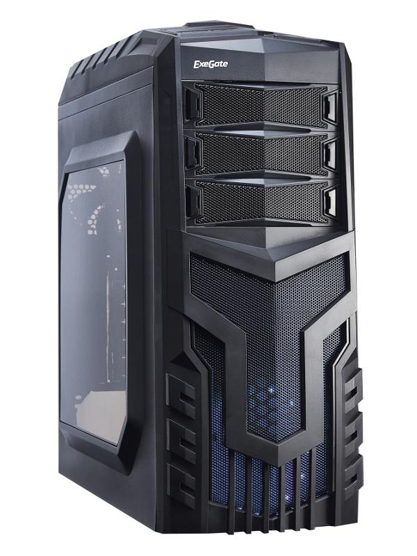 Корпус ExeGate EVO-8203N w/o PSU Black EX277151RUS 277151 корпус exegate ab 224u w o psu black