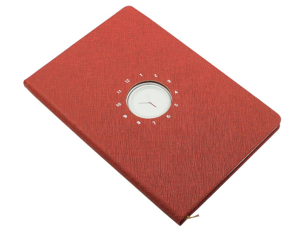 Блокнот Эврика с часами А5 Red 99264