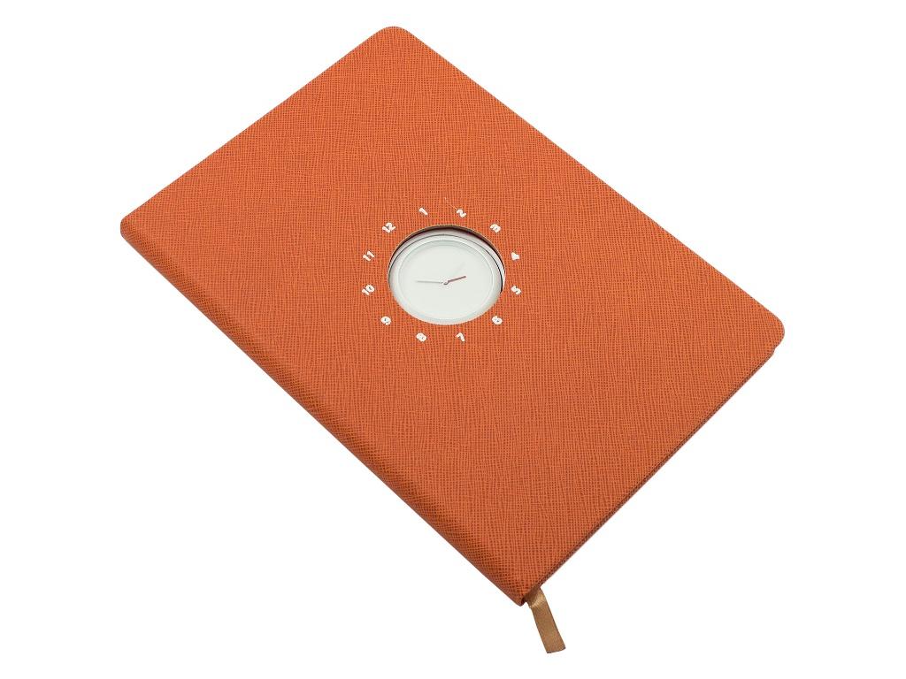 Блокнот Эврика с часами А5 Orange 99266