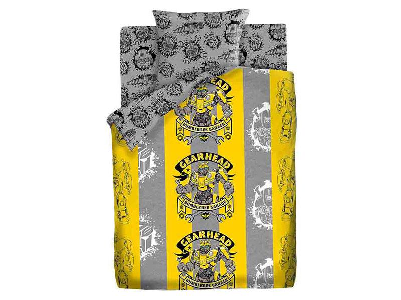 Постельное белье ПромТоргСервис Transformers Мастерская Бамблби Комплект 1.5 спальный Поплин 536219