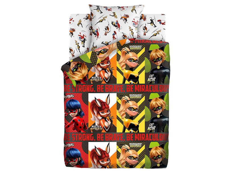 Постельное белье ПромТоргСервис Леди Баг Супергерои 16093-1/16094-1 Комплект 1.5 спальный Хлопок LadyBug 557015