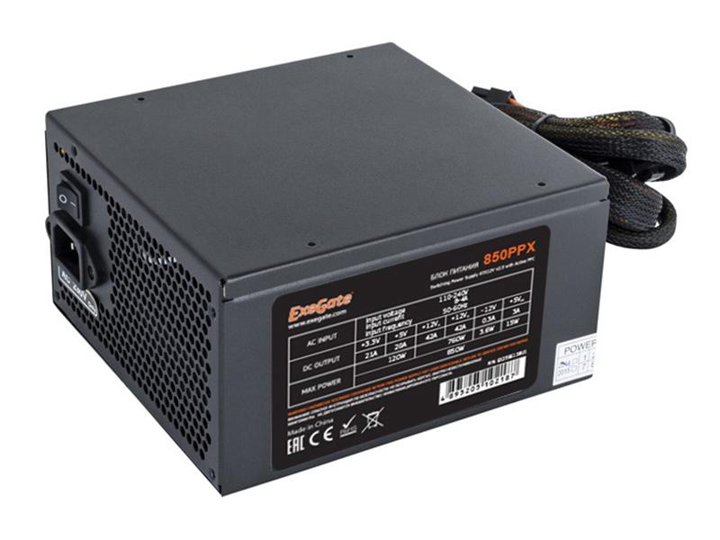 Блок питания Exegate ATX-850PPX 850W Black EX259613RUS-S / 278191