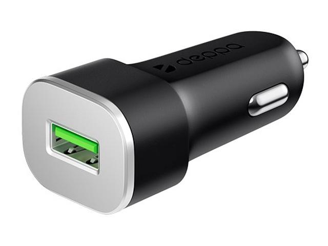 Зарядное устройство Deppa USB QC3.0 Black DEP-11286