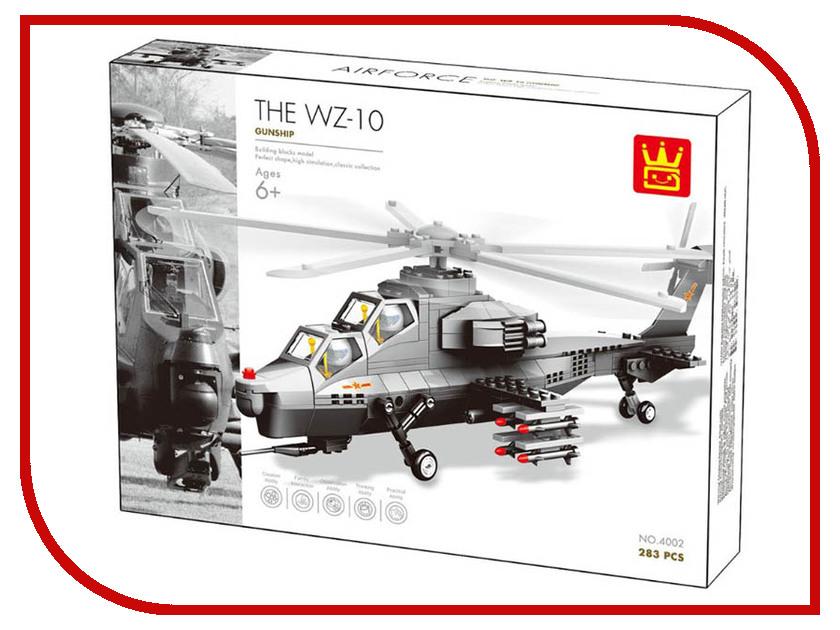Конструктор Wange Вертолет WZ10 283 дет. 4002 ложка вертолет