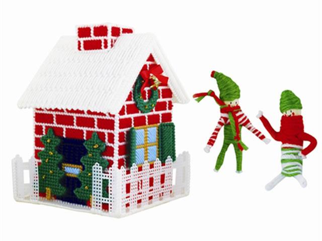 Набор для творчества Asis Объемная вышивка Рождественский Домик 208