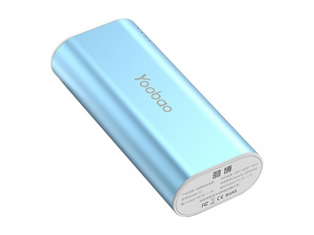 Аккумулятор Yoobao Power Bank S2 5200mAh Blue аккумулятор yoobao 15600 mah yb 6017 pink