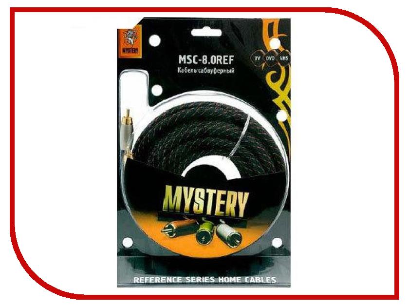 Кабель для подключения сабвуфера Mystery 8m MSC-8.0REF недорго, оригинальная цена