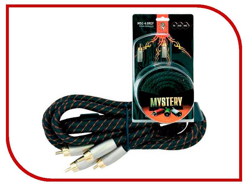 Аксессуар Mystery 3RCA - 3RCA 4m HDV-4.0REF cabos av кабель 3rca 3rca кабель
