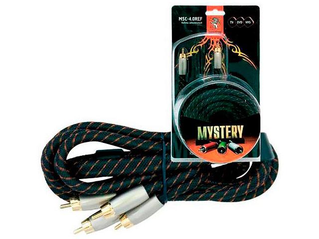 Фото - Аксессуар Mystery 3RCA - 3RCA 4m HDV-4.0REF кабель mobiledata 3rca 3rca черный