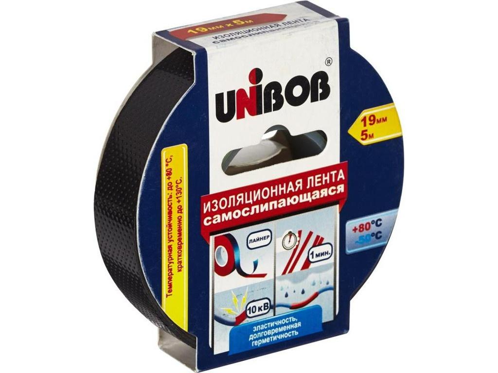 Клейкая лента электроизоляционная Unibob 19mm х 5m Black 48888