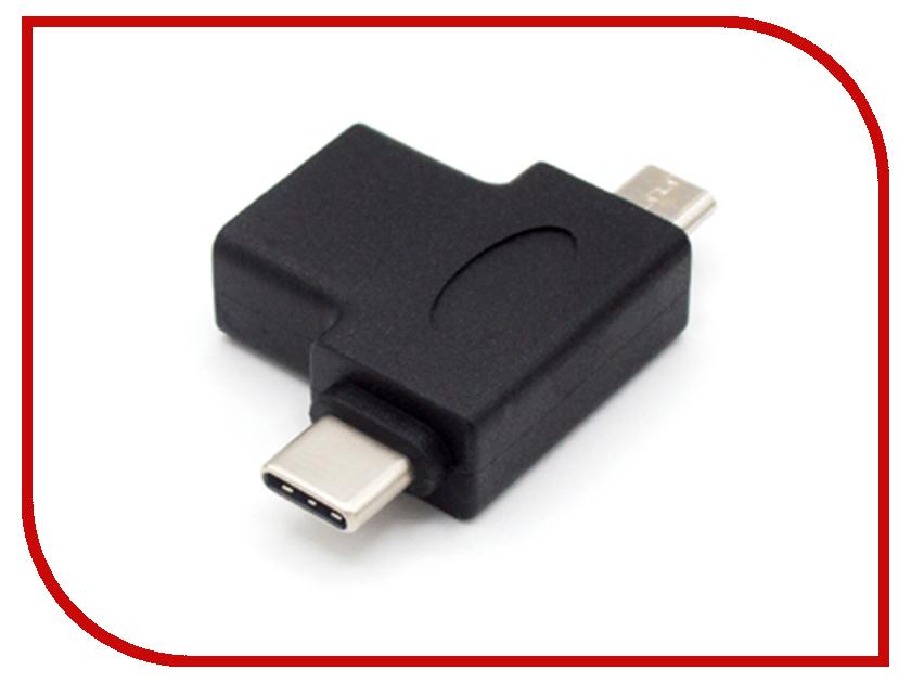 Аксессуар KS-is OTG 2в1 USB F- MicroUSB M/USB Type C M KS-360 аксессуар ks is 2в1 usb microusb type c 1 0m black ks 349b