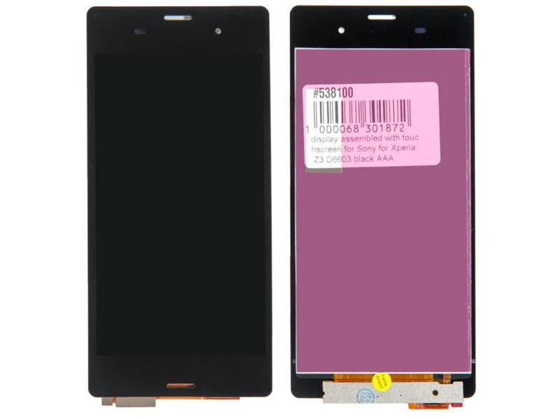Дисплей RocknParts для Sony Xperia Z3 D6603 Black 538100