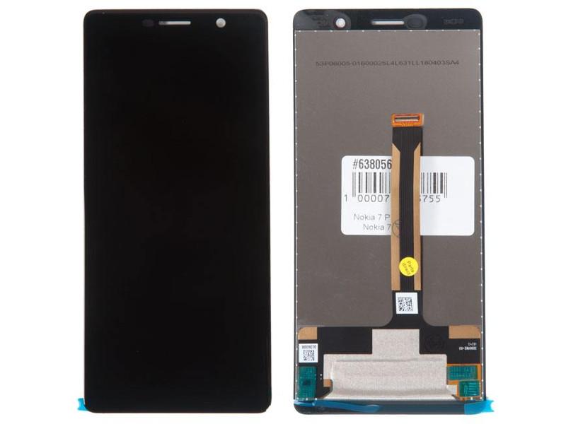 Дисплей RocknParts для Nokia 7 Plus Black 638056
