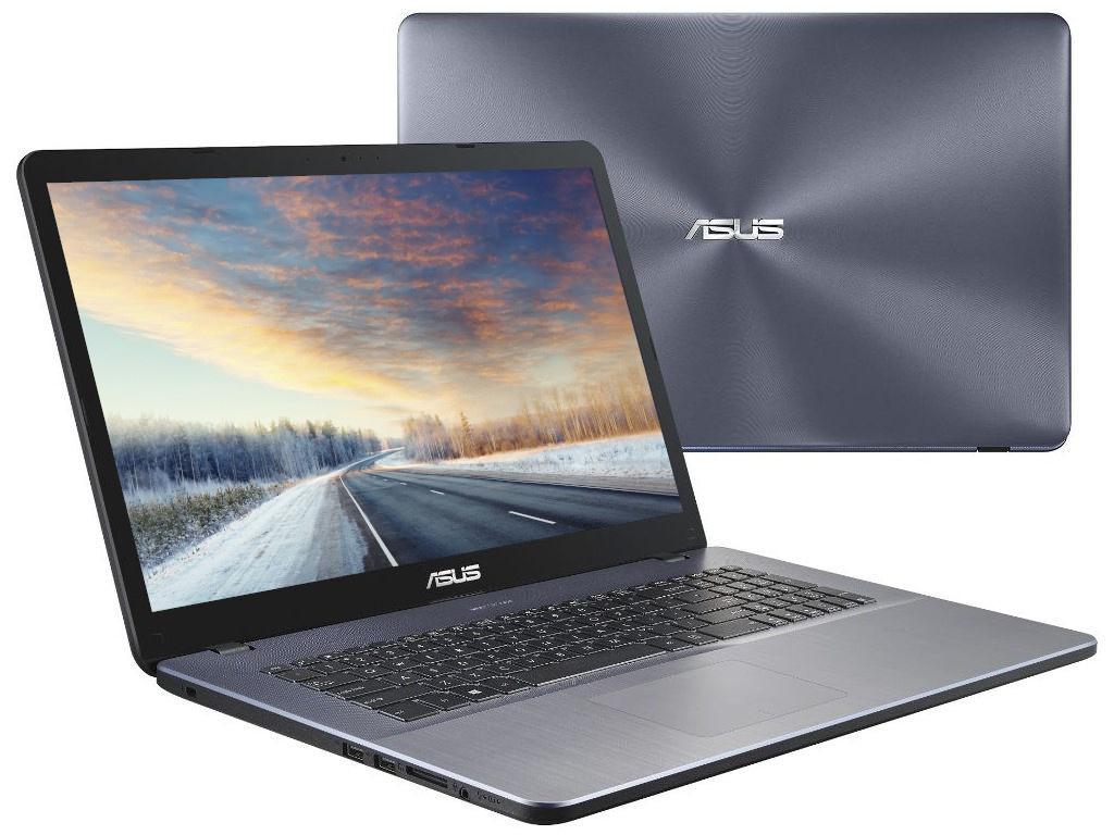 Ноутбук ASUS VivoBook X705UB-GC229 90NB0IG2-M02560 (Intel Core i5-8250U 1.6 GHz/8192Mb/1000Gb + 128Gb SSD/nVidia GeForce MX110 2048Mb/Wi-Fi/Cam/17.3/1920x1080/Endless)