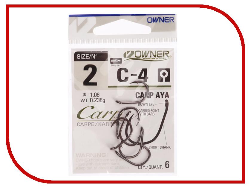 Крючки Owner C-4 Carp №2 6шт 50924