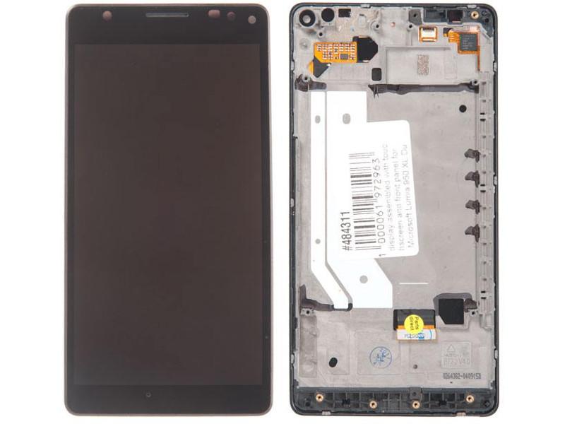 Дисплей RocknParts для Microsoft Lumia 950 XL Dual Sim с передней панелью Black 484311