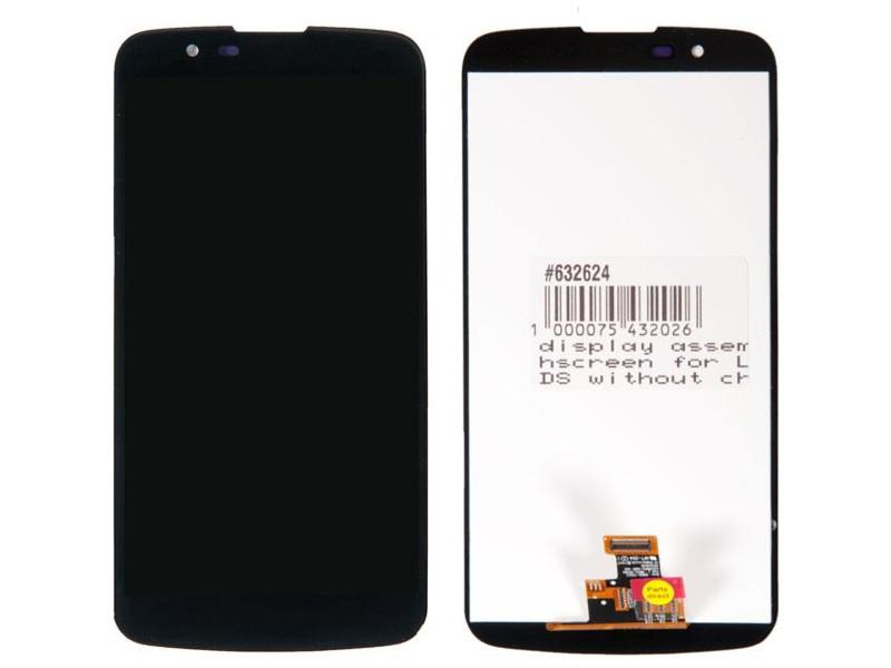 Дисплей RocknParts для LG K10 LTE K430DS без микросхемы на шлейфе Black 632624