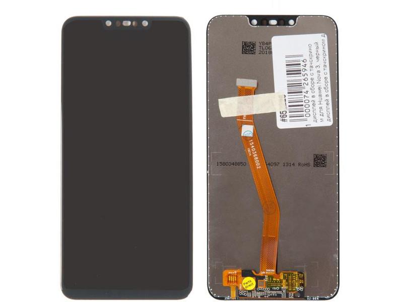 Дисплей RocknParts для Huawei Nova 3 Black 652226