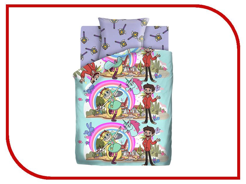 Постельное белье ПромТоргСервис Звездная принцесса / Звездная принцесса 16035-1/16036-1 Комплект 1.5 спальный Бязь 512427 постельное белье 1 5 сп принцесса сирень постельное белье 1 5 сп принцесса