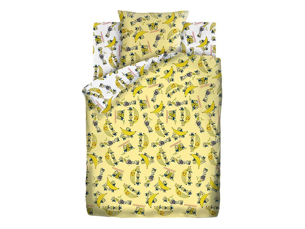 Постельное белье ПромТоргСервис Миньоны / Бананамания Комплект 1.5 спальный Бязь 514715