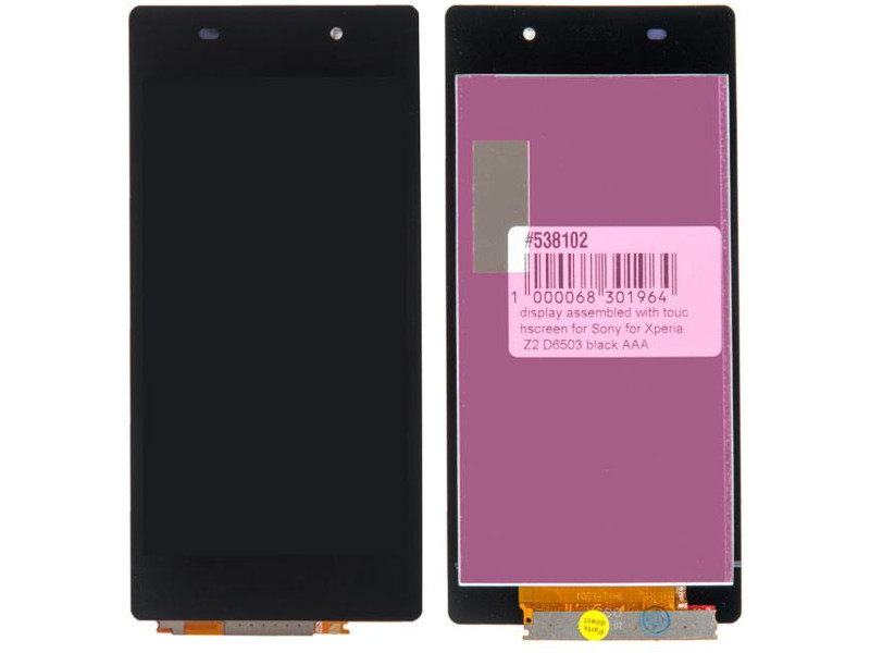 Дисплей RocknParts для Sony Xperia Z2 D6503 Black 538102 laptop lcd display panel touch screen digitizer assembly for sony xperia tablet z2 sgp511 sgp512 sgp521 sgp541 sgp551 sgp561