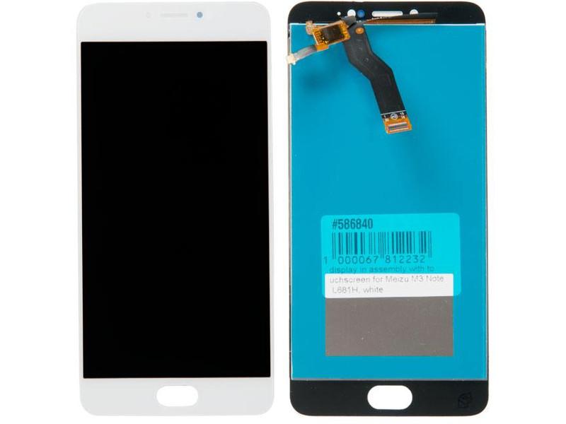 Дисплей RocknParts для Meizu M3 Note L681H White 586840 цена