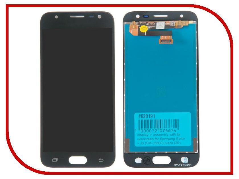 Дисплей RocknParts для Samsung Galaxy J3 SM-J330F 2017 Black 620191 аккумулятор rocknparts zip для samsung galaxy s5 mini sm g800f 506111