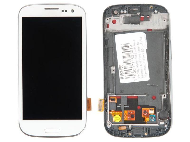 Дисплей RocknParts для Samsung Galaxy S3 GT-I9300 с передней панелью White 152450 цена