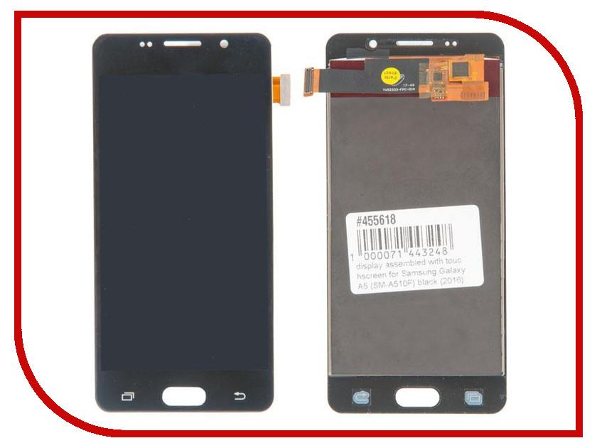 Дисплей RocknParts для Samsung Galaxy A5 SM-A510F 2016 Black 455618 аккумулятор rocknparts zip для samsung galaxy s5 mini sm g800f 506111