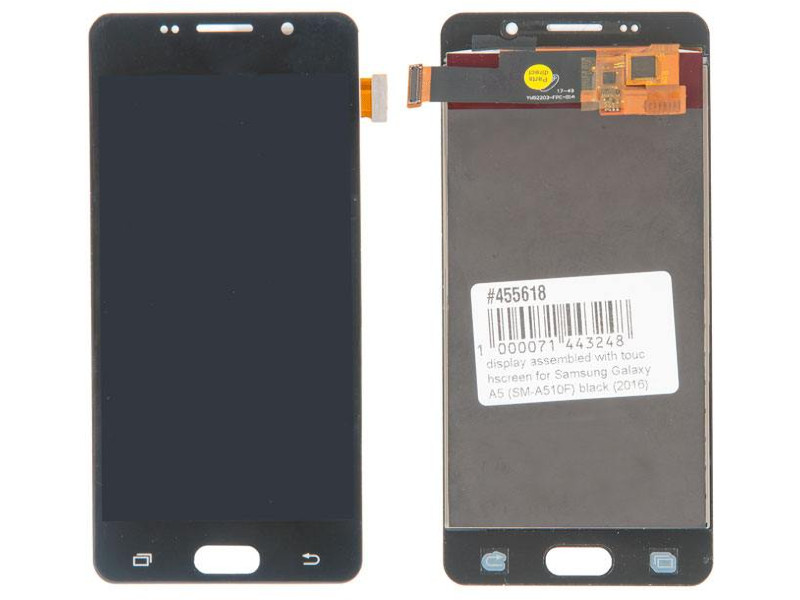 Дисплей RocknParts для Samsung Galaxy A5 SM-A510F 2016 Black 455618 чехол для samsung galaxy a5 2016 sm a510f gecko flip case черный