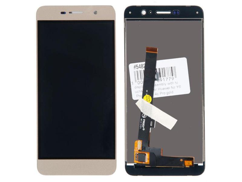 Дисплей RocknParts для Huawei Y6 Pro/Honor 4c Pro Gold 548270 аккумулятор для телефона craftmann hb444199ebc для huawei 4c c8818 g play mini g650 honor 4c
