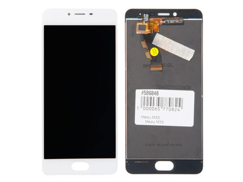 Дисплей RocknParts для Meizu M3S White 586846