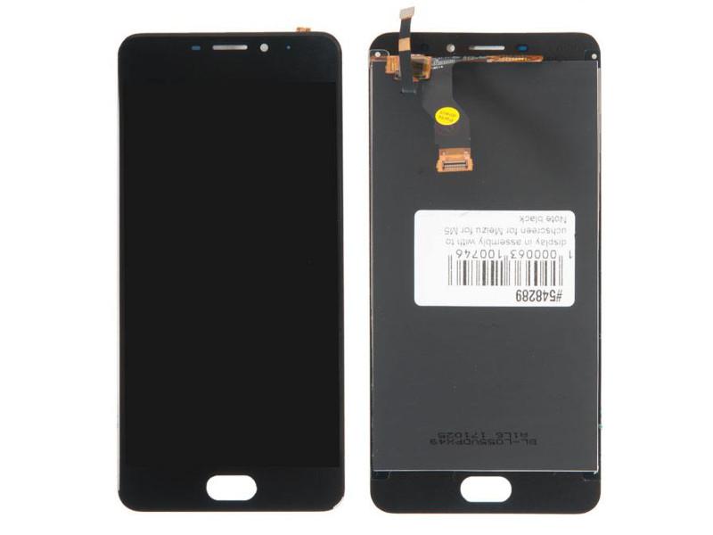 Дисплей RocknParts для Meizu M5 Note Black 548289