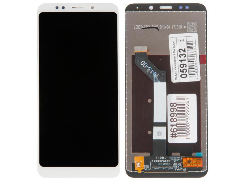 Дисплей RocknParts для Xiaomi Redmi 5 Plus White 618998