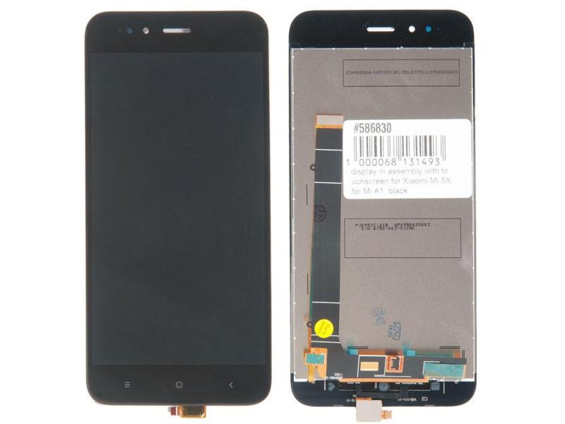 Дисплей RocknParts для Xiaomi Mi 5X/Mi A1 Black 586830