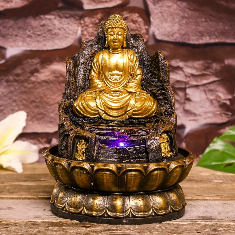 Фонтан СИМА-ЛЕНД Золотой Будда на троне из скалы 4098152