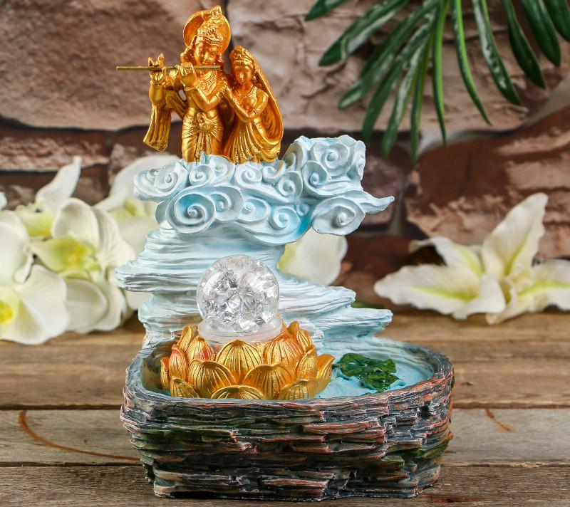 Фонтан СИМА-ЛЕНД Шива и Парвати в золоте 3726489 россия доска сырная в золоте котенок гжель