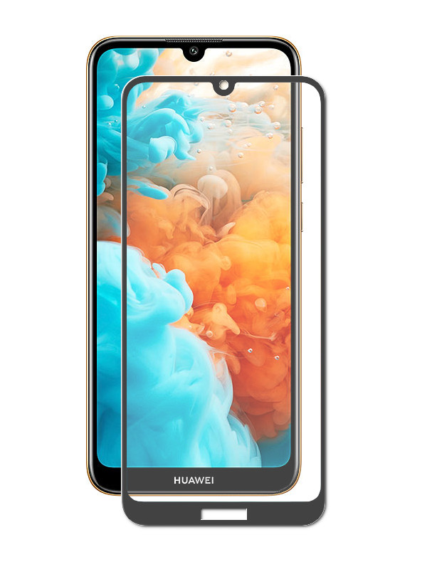 Защитное стекло Zibelino для Huawei Y6 2019 5.7 TG Full Screen Glue Black ZTG-FSFG-HUA-Y6-2019-BLK