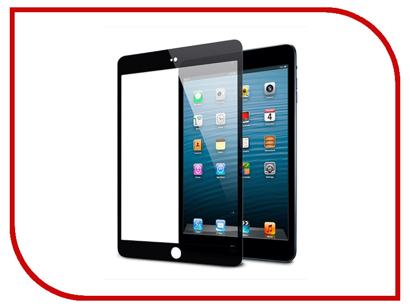 Аксессуар Защитное стекло для Apple iPad Air Zibelino TG 5D Black ZTG-5D-IPAD-AIR2-BLK tablet case for apple ipad air2 6 9 7 inch cover funda kids safe shockproof heavy duty silicone hard hand holder