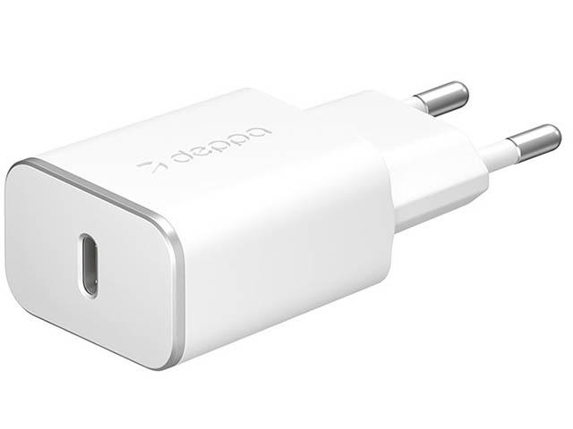 Зарядное устройство Deppa USB Type-C White DEP-11387