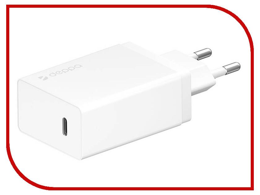 Зарядное устройство Deppa USB Type-C White DEP-11388 сетевое зарядное устройство deppa power delivery 3a usb type c белый 11388