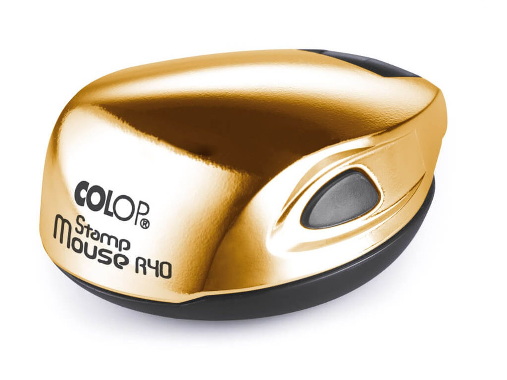 Оснастка для круглой печати Colop Stamp Mouse R40 d-40mm Gold