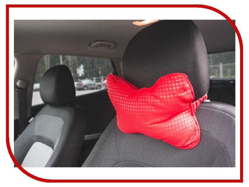 Подушка на подголовник СИМА-ЛЕНД Red 856160 украшение сима ленд набор шаров ангела 6шт red 3249251