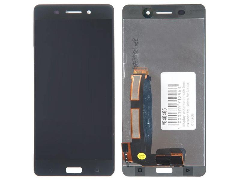 Дисплей RocknParts для Nokia 6 Black 540466